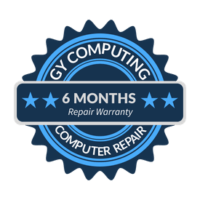 GY Computing - 6 months computer repair warranty seal